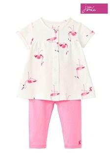 Joules Perrie Tunika und Leggings im Set, rosa