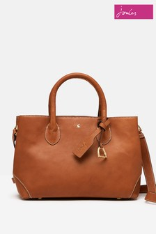 Joules Brown Langton Mini Heritage Leather Bag