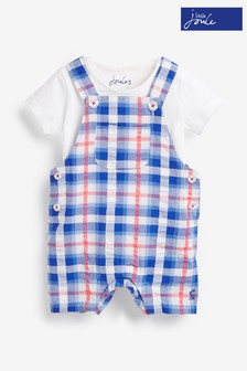 Joules Blue Duncan Luxe Dungaree Set