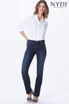 NYDJ Mid Blue Denim Marilyn Straight Leg Jean