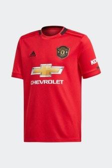 Czerwona koszulka domowa adidas Youth Manchester United FC 19/20
