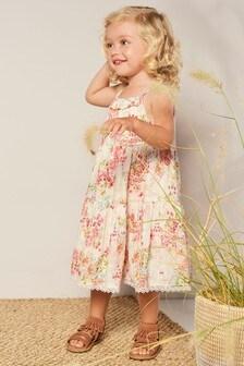 Платье макси с цветочным рисунком (3 мес.-7 лет)