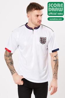 Score Draw イングランド 1989 レトロ ジャージー サッカーシャツ