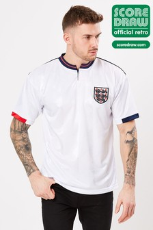 Score Draw - England 1989 Retro jersey voetbalshirt