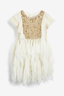 Billieblush White Sequin Dress