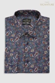 Signature Paisley Pattern Slim Fit Shirt