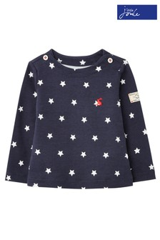 Joules Blue Harbour Print Jersey Top