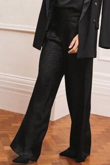 Широкие брюки из жаккардового атласа Emma Willis