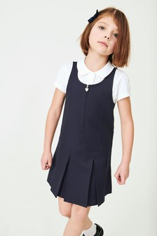 Zip Front Pinafore (3-14yrs)