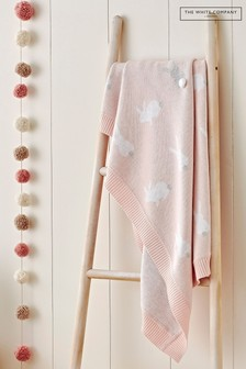 The White Company Pink Bunny Baby Blanket