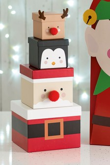 Set of 4 Character Gift Boxes