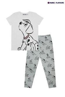 Fabric Flavours White Disney 101 Dalmatians Long Leg Pyjamas