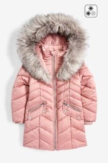 Блестящая двухцветная водоотталкивающая дутая куртка (3-16 лет)