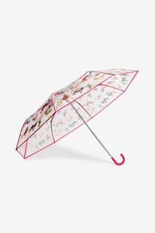 Dog Print Crook Handle Umbrella