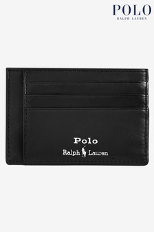 Polo Ralph Lauren Black Contrast Logo Leather Card Case