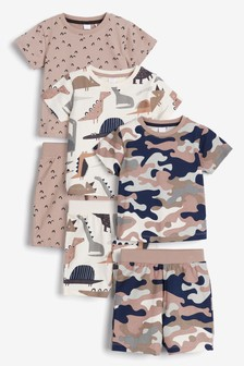 Pyžamo s krátkymi nohavicami, 3 ks (9 mes. – 8 rok.)