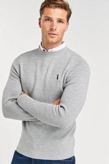 Oxfordský svetr s všitým košilovým límcem
