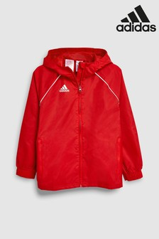 adidas Football Core Red Rain Jacket