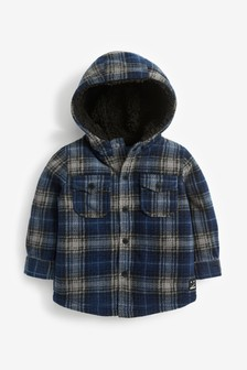 Check Fleece Shacket (3mths-7yrs)