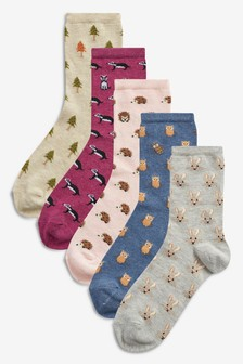 Lot de cinq paires de chaussettes