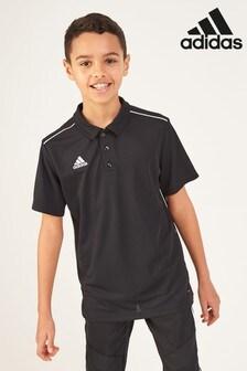 adidas Core Fußball-Poloshirt, schwarz