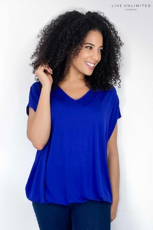 Live Unlimited Blue Yves Jersey Cocoon Top
