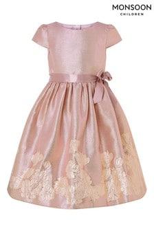 Monsoon Kleid mit Jacquard-Bordüre und Farbverlauf, Pink