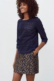 Жаккардовая юбка в цветочек