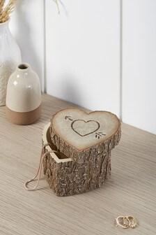 Herz-Kästchen in Holzoptik
