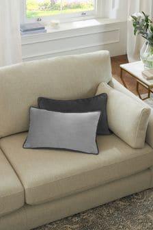Grey/Grey Mila Twin Velvet Square Cushion