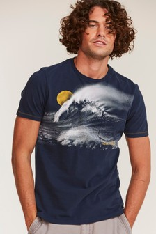 FatFace Blue Big Wave Nazare T-Shirt