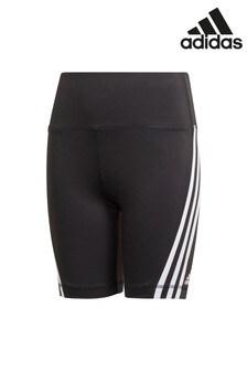 adidas Performance Icon Black 3 Stripe Shorts