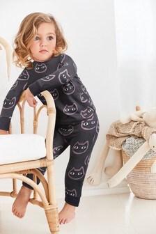 Пижама с принтом кошек (9 мес. - 8 лет)