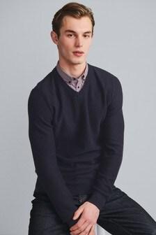 Джемпер с рубашкой-обманкой