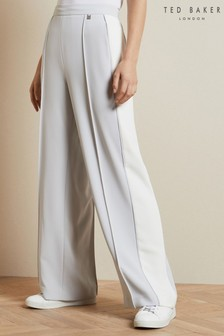 Ted Baker Cream Clarpa Wide Leg Trousers