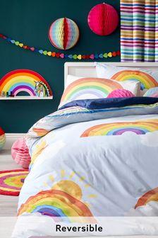 Bright Rainbow Reversible Duvet Cover And Pillowcase Set (330206)   $22 - $36