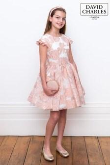 David Charles Pink Jacquard Dress