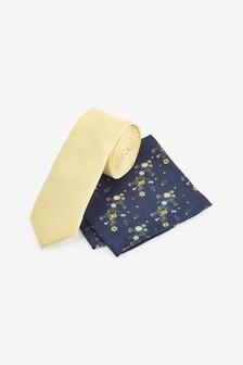 ネクタイ & ポケットチーフ セット