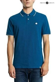 חולצת פולו עם גימור בשוליים של Pretty דגם Barton בירוק