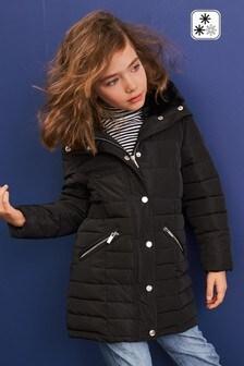 Непромокаемая дутая куртка на молнии (3-16 лет)