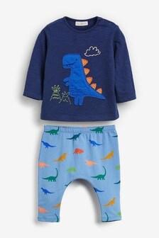 Zweiteiliges Set aus T-Shirt mit Dino und Leggings (0Monate bis 2Jahre)
