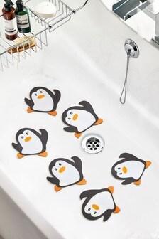 Set of 6 Penguin Bath Treads