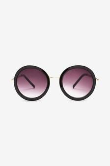 Duże okrągłe okulary przeciwsłoneczne