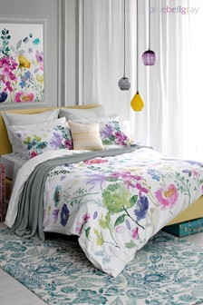 Bluebellgray Tetbury Floral Cotton Duvet Cover and Pillowcase Set