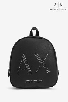 Čierny ruksak s cvočkami Armani Exchange
