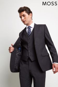 Moss 1851 Performance Tailored Fit Charcoal Suit