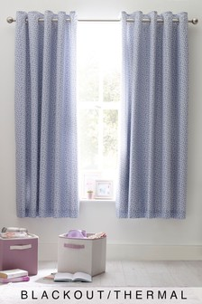 Speckle Print Eyelet Blackout Curtains