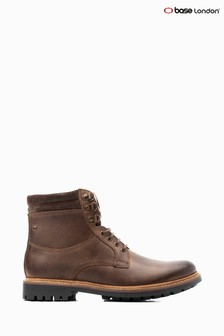 Base London® Brown Hide Lace-Up Boots