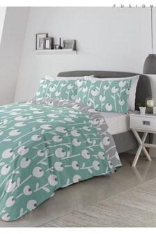 Fusion Alabar Bettbezug und Kissenbezug mit Blumenmuster