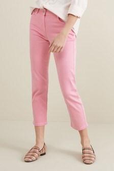 Мягкие на ощупь укороченные джинсы